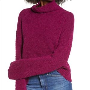 Leith Nordstrom Boucle Sweater. 1X. Purple/Magenta